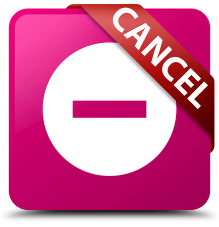 abort: Cancel pink square button