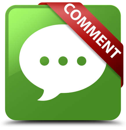 Comment (conversation icon) soft green square button