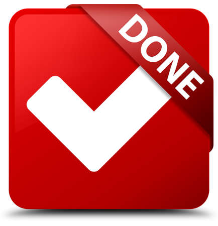 validate: Done (validate icon) red square button