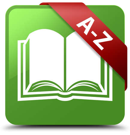 A-Z (book icon) soft green square button