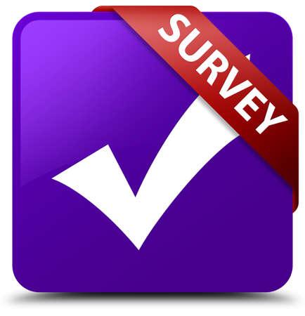 validate: Survey (validate icon) purple square button