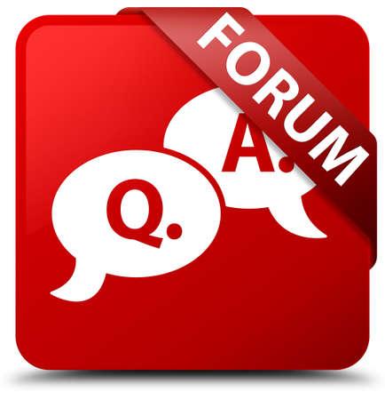 Forum (question answer bubble icon) red square button