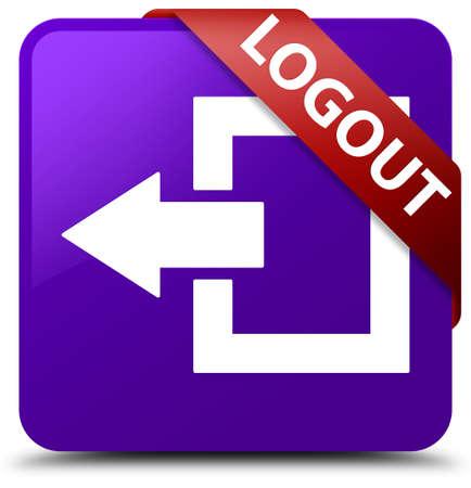 shut out: Logout purple square button