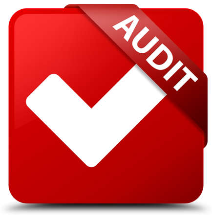 Audit (validate icon) red square button