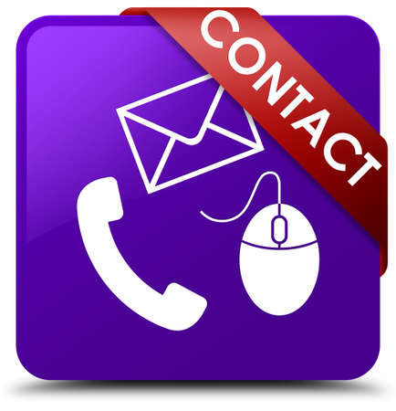 Contact (phone, email and mouse icon) purple square button