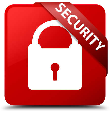 key hole: Security (padlock icon) red square button