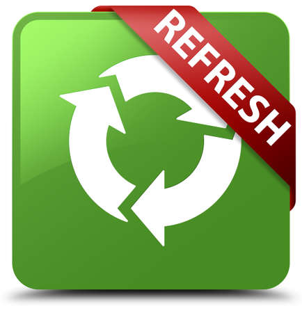 recycle icon: Refresh soft green square button