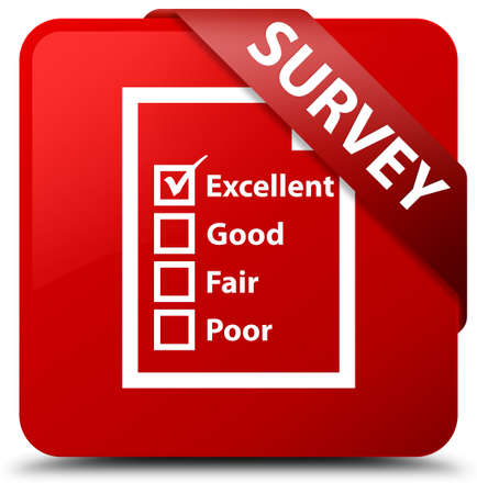 rating: Survey (questionnaire icon) red square button