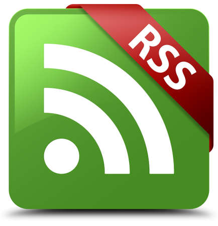RSS soft green square button