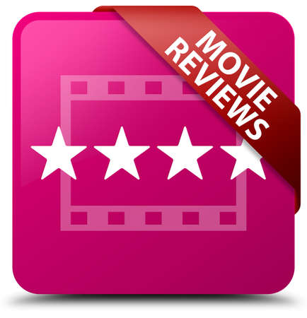 reviews: Movie reviews pink square button