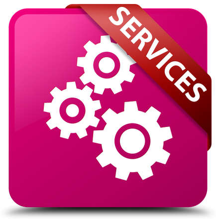 Services (gears icon) pink square button