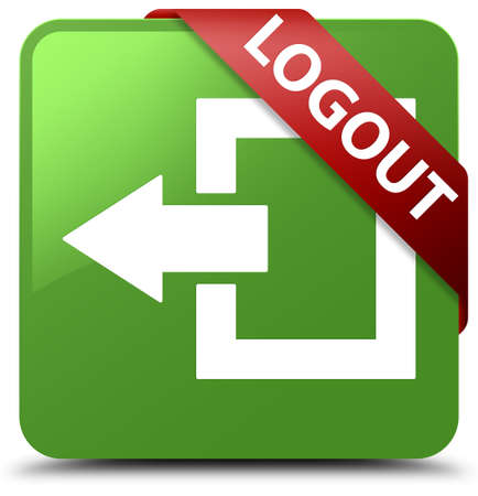 Logout soft green square button