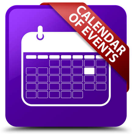 event planner: Calendar of events purple square button