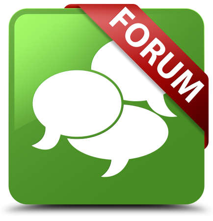 Forum (comments icon) soft green square button