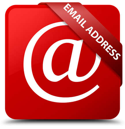 Email address red square button
