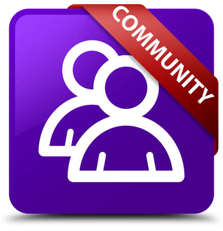 Community (group icon) purple square button