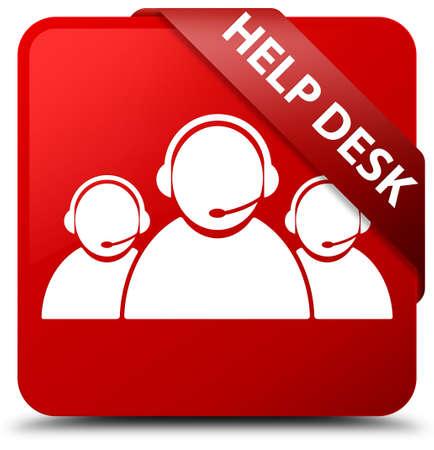 Help desk (customer care team icon) red square button
