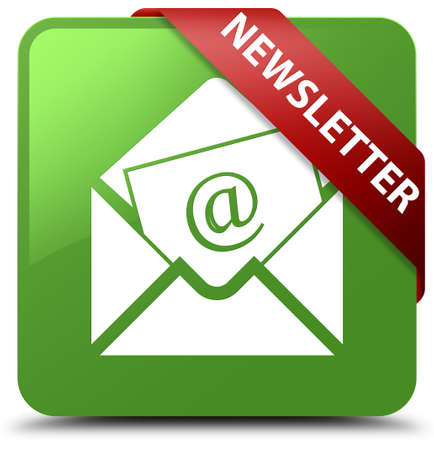 Newsletter soft green square button