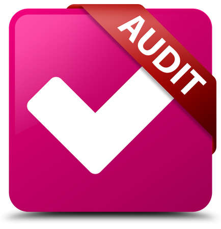 Audit (validate icon) pink square button