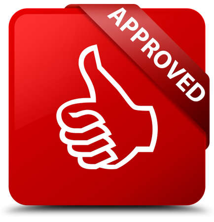valid: Approved (thumbs up icon) red square button