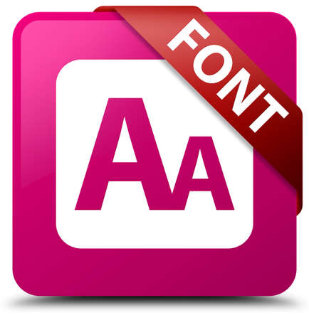 Font pink square button