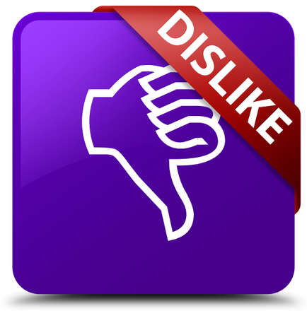 disapprove: Dislike purple square button