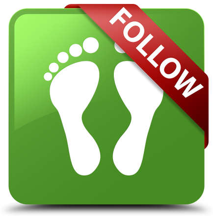 Follow (footprint icon) soft green square button