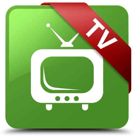 TV soft green square button