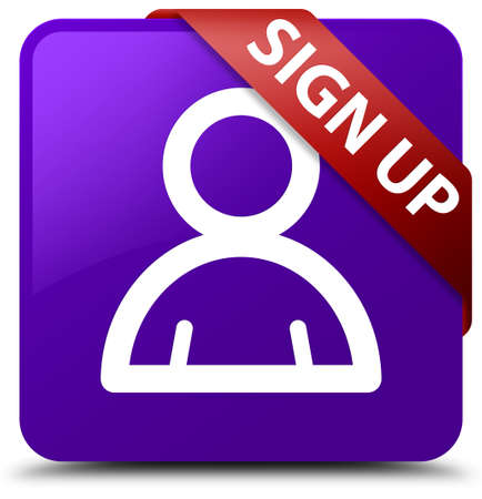 Sign up (member icon) purple square button