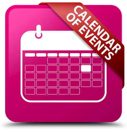 event planner: Calendar of events pink square button