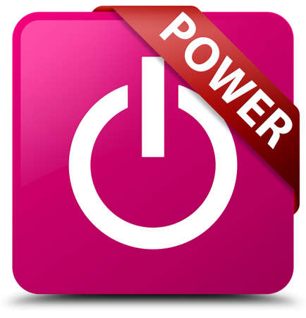 shut off: Power pink square button