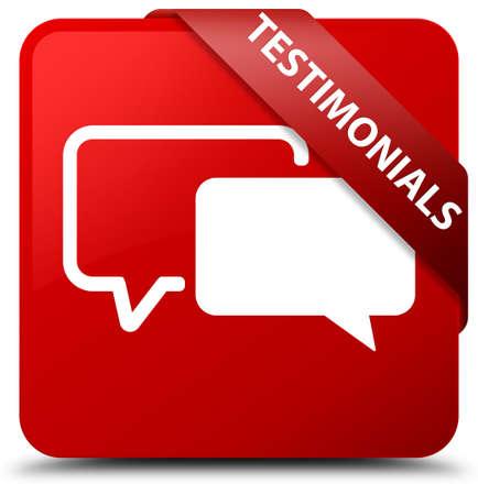authenticate: Testimonials red square button