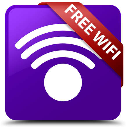 Free wireless internet purple square button