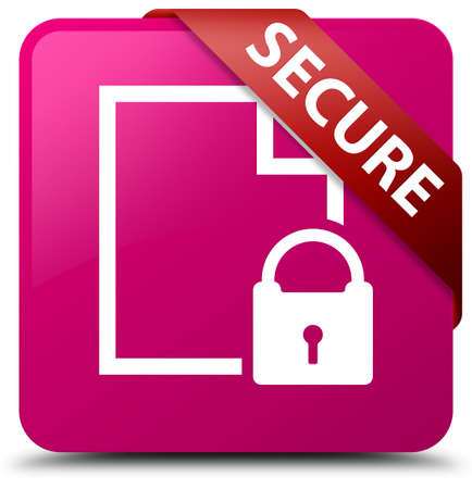 key hole shape: Secure (document page padlock icon) pink square button
