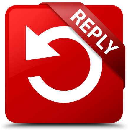 reply: Reply (rotate arrow icon) red square button