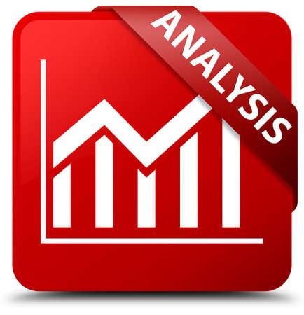 Analysis (statistics icon) red square button