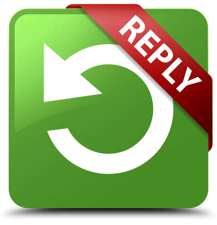 reply: Reply (rotate arrow icon) soft green square button
