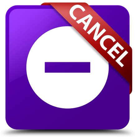 abort: Cancel purple square button