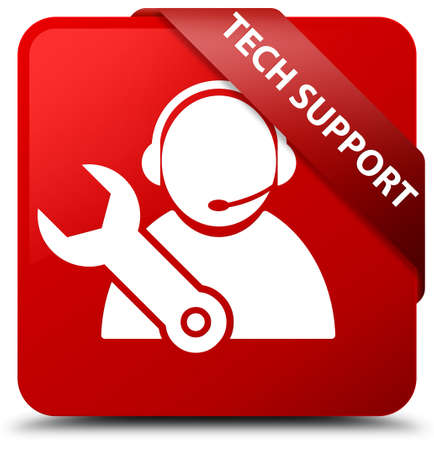 Tech support red square button