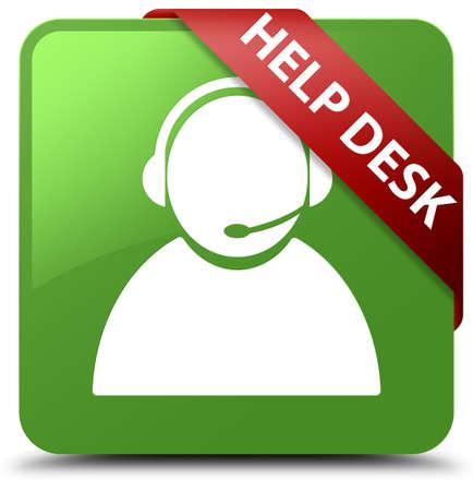 Help desk (customer care icon) soft green square button