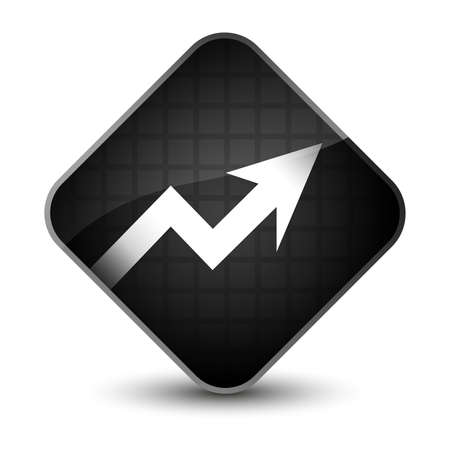 report icon: Business graph icon isolated on elegant black diamond button abstract illustration Stock Photo