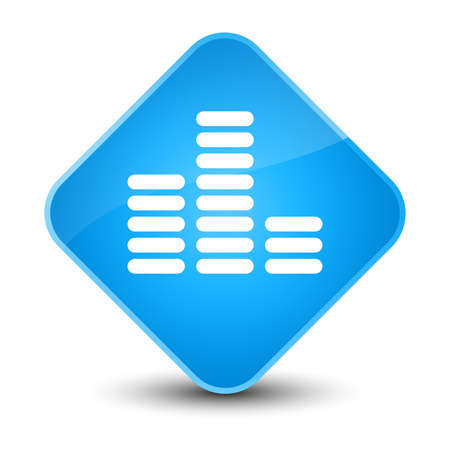 Equalizer icon isolated on elegant cyan blue diamond button abstract illustration