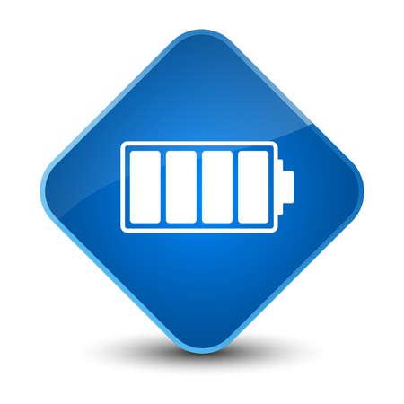 Battery icon isolated on elegant blue diamond button abstract illustration