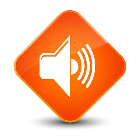 Volume icon isolated on elegant orange diamond button abstract illustration