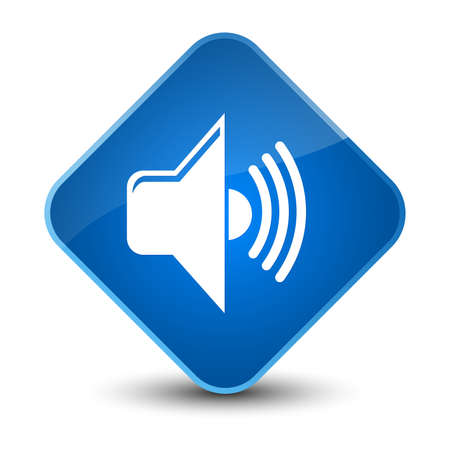 waves: Volume icon isolated on elegant blue diamond button abstract illustration Stock Photo