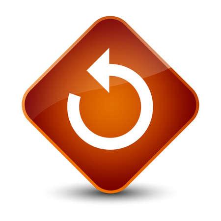 Refresh arrow icon isolated on elegant brown diamond button abstract illustration