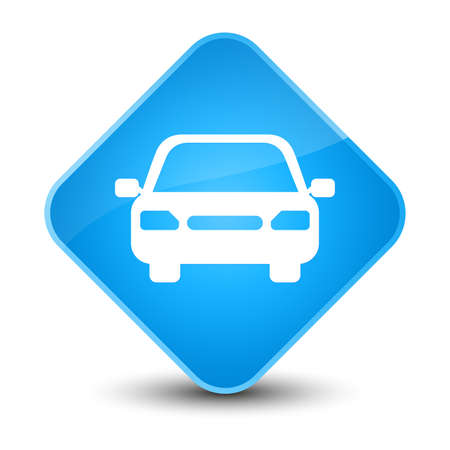 Car icon isolated on elegant cyan blue diamond button abstract illustration Stock Photo