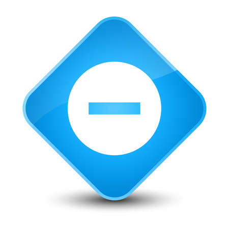 abort: Cancel icon isolated on elegant cyan blue diamond button abstract illustration