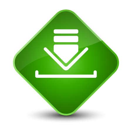Download icon isolated on elegant green diamond button abstract illustration Stock Photo