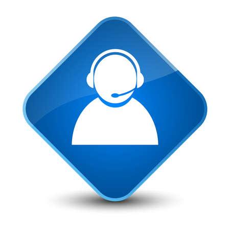 representative: Customer care icon isolated on elegant blue diamond button abstract illustration Stock Photo